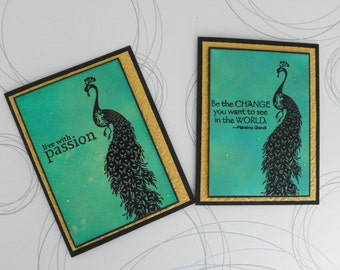 Note Cards - Be the Change and Live with Passion Simple Greetings