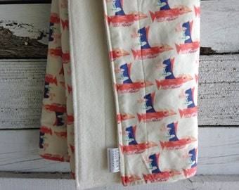 Organic Baby Blanket - Birds in Flight
