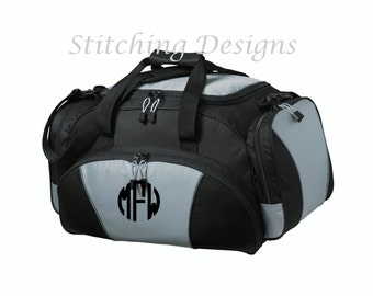 Monogrammed duffel bag, gym bag, over night bag, sports bag