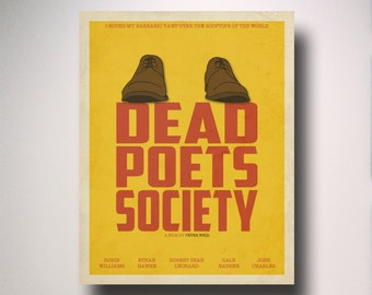 Dead Poets Society Inspired Minimalist Movie Poster / Minimalist Movie Poster / Wall Art