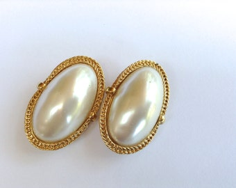 Faux Pearl Bridal Earrings Glam Girl Long White Costume Fashion Jewelry