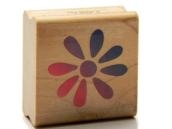Flower stamp daisy dot art stamp craft rubber by designsbycnc for Rubber stamps arts and crafts