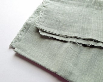 cotton double gauze fabric. soft japanese pure cotton fabric. 102cm (40in) wide. sold by 50cm (19in) long / half yard. greenish light grey