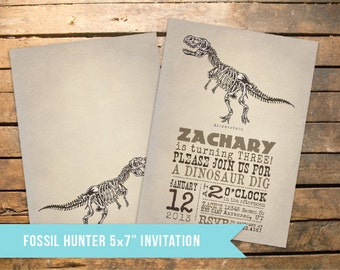 Fossil Birthday Party Invitation + Our 4 Favorite Printables!