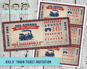 Train Birthday Party Invitation + Our 4 Favorite Printables!