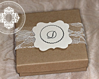Lace Monogram Gift Boxes