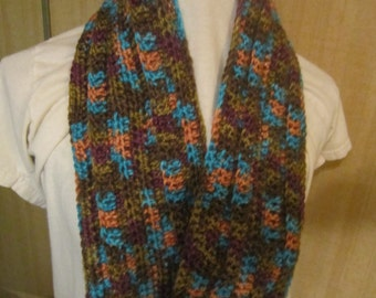 Crocheted infinity scarf/cowl