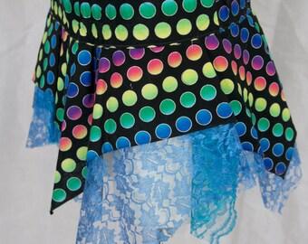 Fading rainbows pixie skirt