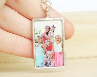 Custom Photo Keychain - Personalized Keychain - Photo Key Chain - Mother's Day - Father's Day - Memorial Keychain - Grandparent Gift