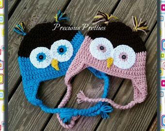 Crochet Owl Hat/Beanie - Customizable