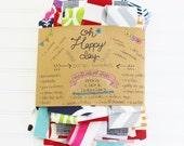 Fabric scraps bundle, JUMBO kit, pieces, strips, assorted fabric pack - designer fabric- premier prints home decor fabric