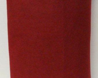 Grandmas Garnet 35% Merino Wool Felt Blend Fabric By the Yard from Woolhearts