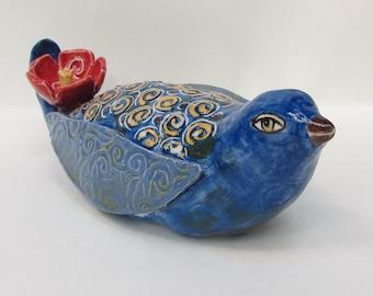 ceramic bird; ceramic art; ceramics and pottery sculpture