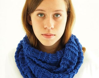 Cowl knitting kit - easy beginner's knitting kit with video - learn how to knit - soft cotton - 20 colors - Urban Cowl