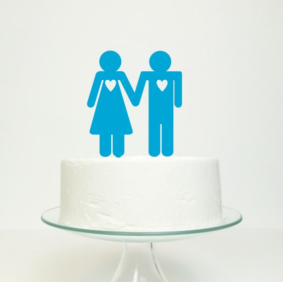 His 'n' Hers Wedding Cake Topper