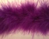 Purple Marabou Feather Ribbon Trim - Craft, Costume, Millinery Trim