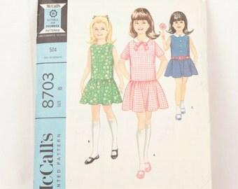 1960s McCall's 8703 // girl's dress