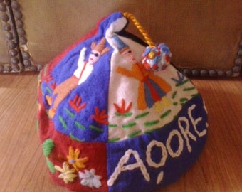 50s Portugese Embroidered childrens cap