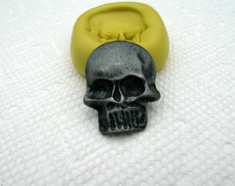 Skull Mold Flexible silicone push mold for ice, cake decor, polymer clay, resin, chocolate, fondant and other