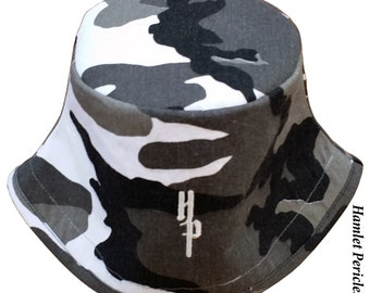 Camouflage Unisex Bucket Hat | Army Fatigue Hat | Camo Hat by Hamlet Pericles | HP81715c