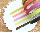 SALE Thin Washi Tapes: Chocolate Citrus