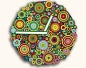 Color Circles Design Wall Clock Gift