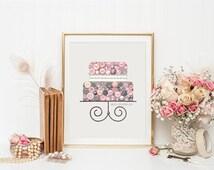 Button Art Cake Layer Cake Button art Swarovski Art Cake Wedding Cake Topper Custom Cake
