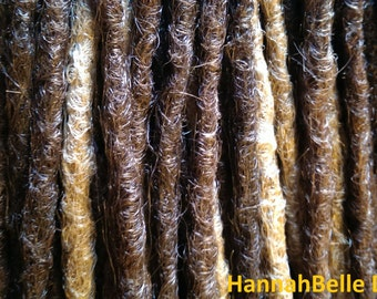CUSTOM long crochet synthetic dreadlock extensions - natural look, double ended, 20 pieces.