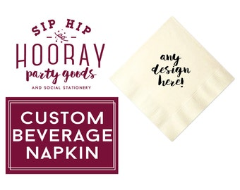 Cocktail Napkins, Custom, Business Napkin, Logo Napkin, Beverage Napkins, Company Party Napkins, Napkins, Company Party Favors, Party Favors
