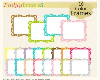 ON SALE, frame clipart, scrapbooking clip art frame, digital clip art frames, digital frames .A-206
