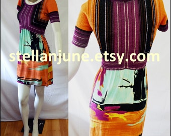 Authentic Missoni Dress Italy Marked Size 36 US XXS Perfect Fall Autumn Color Scheme