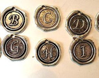 Stamped Initial Pendants - Initial Jewelry - Monogram Jewelry - Personalized Pendants - Waxing Poetic Style Pendants - Gifts