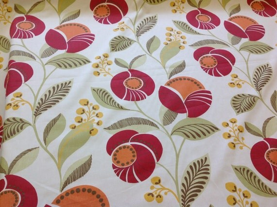 Montgomery designer curtain fabric delilah by the metre for Childrens curtain fabric by the metre