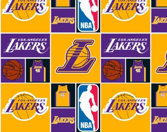 NBA Los Angeles Lakers Cotton Fabric by the yard