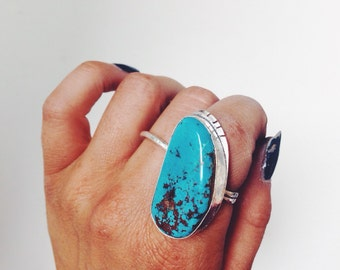 CONDOR// Large tuqouise & silver ring