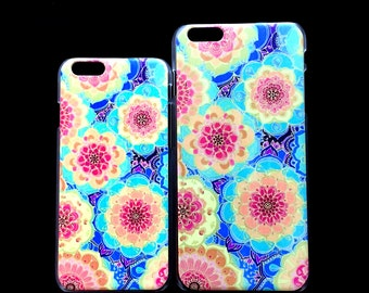 Iphone 6 and 6 plus Boho Flower Design hard phone case cover