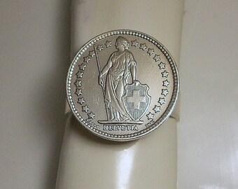 Switzerland Vintage Coin Ring 1968