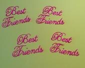 Handmade, Best Friends, Die Cuts, Sizzix, Scrapbooking, Cards, Friends