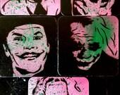 Many Faces of the Joker: 5pc Coaster Set