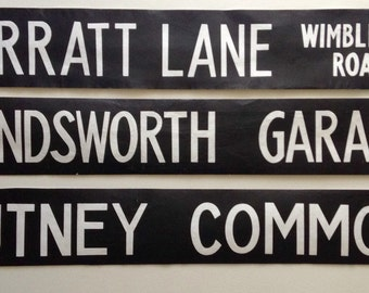 Vintage  London bus blinds.   unframed for easy postage lots of destinations.  SALE NOW ON!!