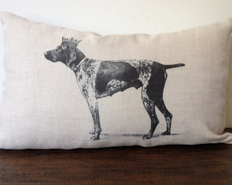 Choose ANY image from shop or 46 Dog Breeds Pug BullDog Boxer Chihuahua Great Dane Terrier Dachshund Linen or Burlap Pillow Cover