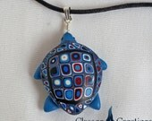 Blue Sea Turtle Pendant ~ Unique Necklaces for Woman ~ Unique Handmade Pendants ~ Jewelry Gifts  ~ Handmade by Classon Creations