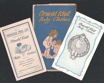 3 Antique Baby Fashion Clothes Catalogs 1917