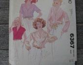mccalls pattern 6367 disco shirt vintage 1978 miss size 12 bust 34 uncut