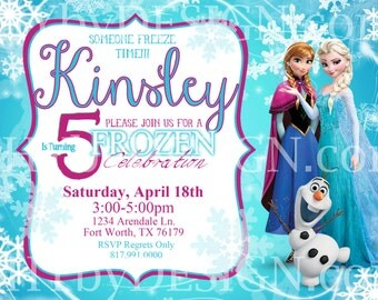 PRINTABLE 5x7 Frozen Party Invitation