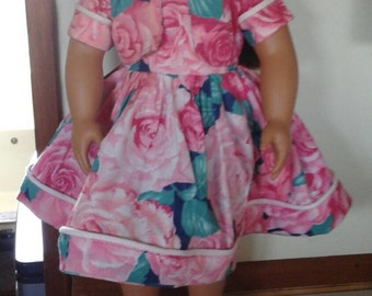 """Rose Garden Dress and Jacket for American Girl Dolls and other 18"""" Dolls"""
