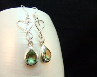 Silver Alexandrite Birthstone Earrings