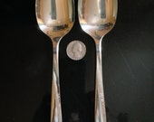 2 Oneida Community Twin Star Serving/Table Spoons