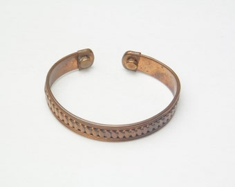 Vintage Copper Bracelet Bangle Style Costume Jewelry