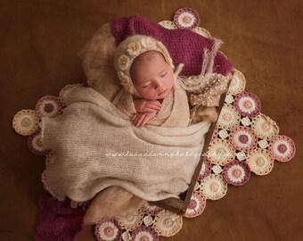 Newborn Baby Blanket, Cotton Blanket, Photo Prop